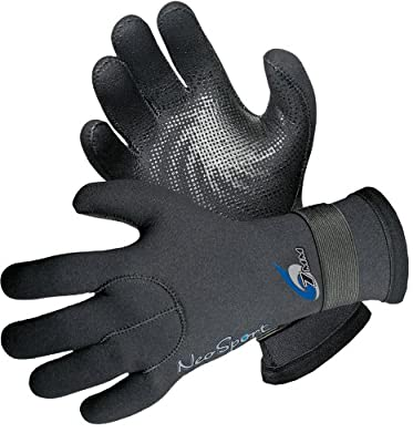 NeoSport Wetsuits Premium Adult Neoprene 3mm Five Finger Glove