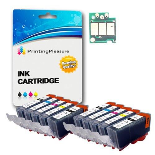 Printing Pleasure - ( 2 Set ) Hohe Qualität Tintenpatrone PGI520CLI521 mit chip kompatibel für Canon Drucker Pixma iP3600, iP4600, IP4700, MP540, MP550, MP560, MP620, MP630, MP640, MP980, MP990, MX860, MX870