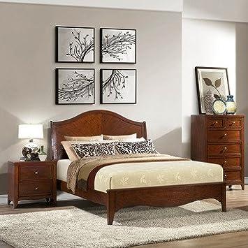 Homelegance Verity 3 Piece Platform Bedroom Set in Cherry