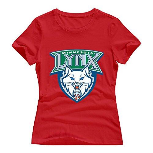 Red VAVD Women's Minnesota Lynx O-Neck T-Shirt Size XXL (Lil Lynx compare prices)