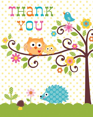 Thank You Cards Happi Tree 48 Ct front-567305