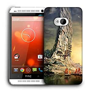 Snoogg Boat Building Printed Protective Phone Back Case Cover For HTC One M7
