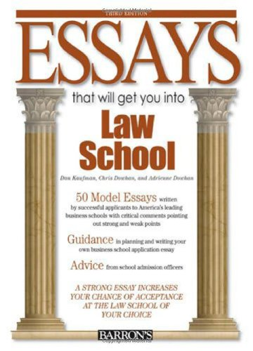 Essays That Will Get You into Law School