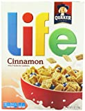Quaker Life Cinnamon Cereal 370 g (Pack of 2)