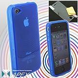 iPhone4専用 TPUカバーケース(ブルー) Ripple[APEX]【iPhone4 iPhone 4 サーキュラー】【訳あり】【箱つぶれ】