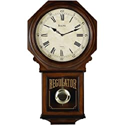Bulova C3543 Ashford Old World Clock, Walnut Finish
