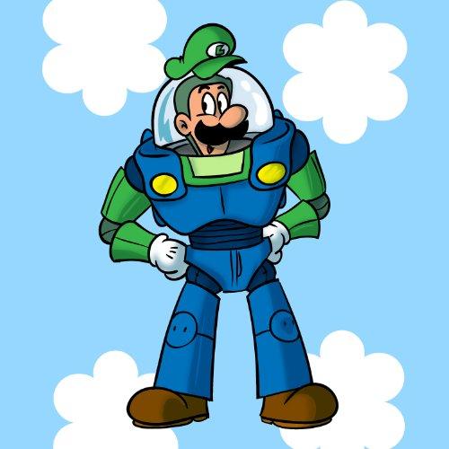 """Plumbing Story"" Space Hero Character Funny Video Game & Children'S Cartoon Movie Parody - Vinyl Sticker front-947230"