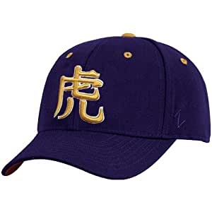 zephyr lsu tigers purple kanji fitted hat 7