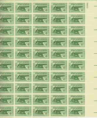 Civil War Fort Sumter Sheet of 50 x 4 Cent US Postage Stamps NEW Scot 1178