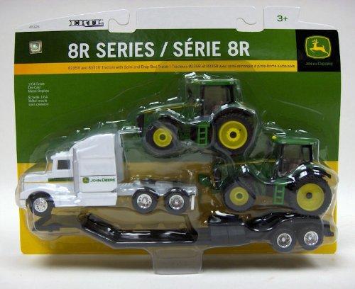 Ertl Collectibles 1:64 John Deere Semi With 8R Tractors