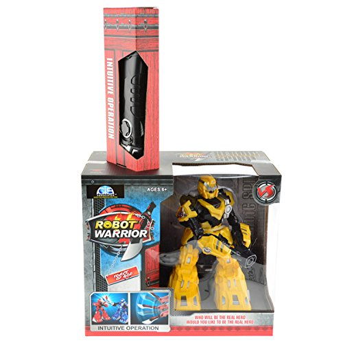 CIS-3888-1Y-9-inch-Yellow-Sword-Robot-Controlled-With-an-IR-Controller