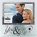 Malden International Designs Wedding Memories You and Me Frosted and Mirrored Glass Picture Frame, 4 by 6-Inch