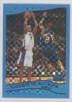 Charlie Villanueva #32/90 Toronto Raptors (Basketball Card) 2005-06 Topps Chrome Blue X-Fractor #198