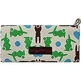 Bungalow360 Women's Canvas Velcro Clutch Wallet