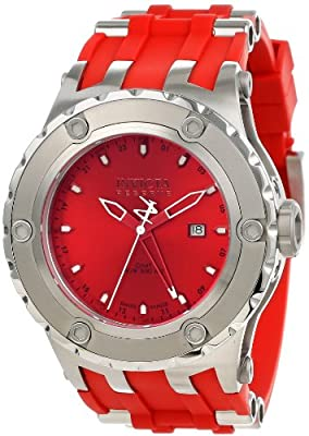 Invicta Men's 1395 Subaqua Reserve GMT Red Dial Red Polyurethane Watch