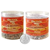 Chocholik Dry Fruits - Almonds Peri Peri & Almonds Rose With 5gm Pure Silver Coin - Diwali Gifts - 2 Combo Pack