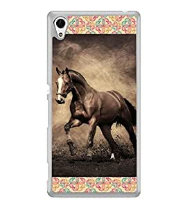ifasho Designer Phone Back Case Cover Sony Xperia M4 Aqua :: Sony Xperia M4 Aqua Dual ( Indian Lady Half Face )