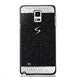 Superstart Black Luxury Shiny Glitter Sparkle Hard Case With Crystal Rhinestone for Samsung S5