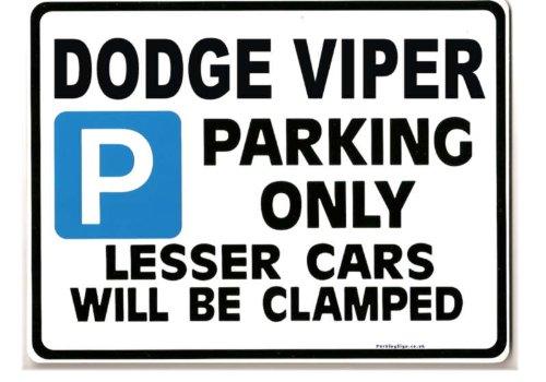dodge-viper-gross-metall-parkingsign-geschenk-witz-grosse-large-205-x-270-mm