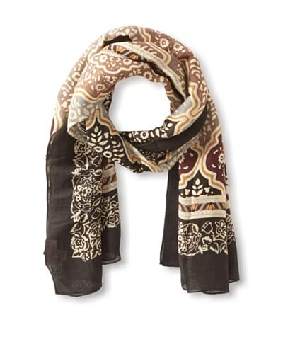 Theodora & Callum Women's Medina Scarf, Brown Multi