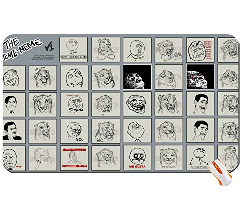 Entertainment tigers funny meme rage challenge drawings forever alone trolls faces face expressions me gusta ragef big mouse pad computer mousepad Dimensions: 23.6 x 13.8 x 0.2