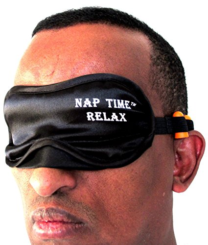 Best Eye Mask Sleep/Shade With Ear Plugs- Cute Comfortable For Men/Women- Completely Blocks Light And Helps With Getting Sound Sleep -Whether You Are Traveling- On The Road- In Long Flights Or Taking A Nap- It Comes With Long Strap So You Can Adjusted Wit front-1034762