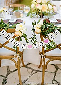 Luxurious bride to be Engagement party banner banners signs Wedding shower Bridal shower bachelorette party decorations supplies bridesmaid table garland accessories bunting favor engaged parties from Bachelorette Fun Night