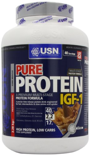 USN Pure Protein IGF-1 2280 g Cappuccino Growth and Repair Protein Shake
