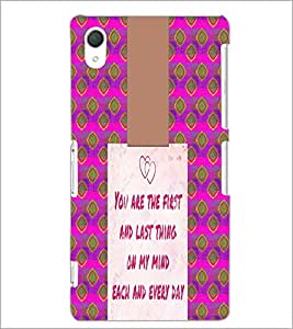 PrintDhaba Quote D-4947 Back Case Cover for SONY XPERIA Z2 (Multi-Coloured)