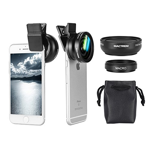 Mactrem-iPhone-Camera-Lens-Kit-2-in-1-Universal-Professional-Lens-For-iPhone-6s-6s-Plus-6-5s-Mobile-PhoneWide-Angle-045X-Macro-Lens-125X-37mm-Clip-Camera-lens-for-iphone