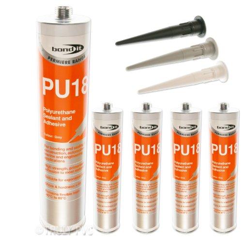 4-x-white-bond-it-pu18-high-strength-polyurethane-adhesive-sealant-eu3-cartridge-seals-bonds-in-engi