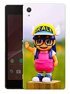 """Cute Girl With GlassesPrinted Designer Mobile Back Cover For """"Sony Xperia Z3"""" (3D, Matte, Premium Quality Snap On Case)"""
