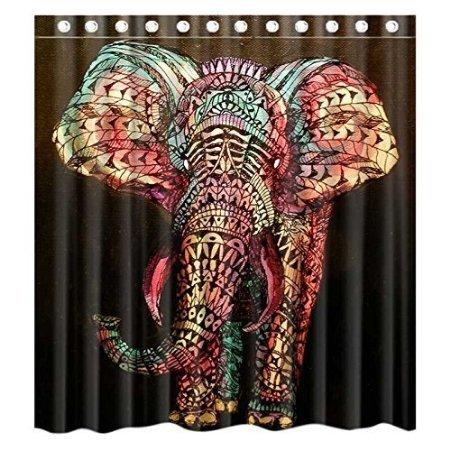 bbfhome-hem-pesos-cortina-de-ducha-180-x-180-cm-personalizados-elefante-impermeable-poliester-cuarto