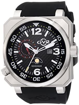 GV2 by Gevril Men's 4510 XO Submarine 24-Hour Time Display Black Dial Watch