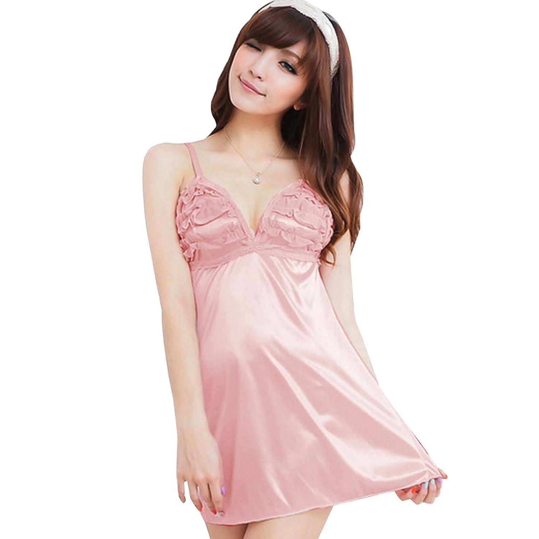 Deercon Frauen-Silk Spitze-W?sche-Kleid-Nachtzeug Babydoll Sleepwear (schwarz) günstig kaufen
