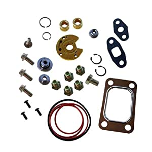 Turbo Rebuild Kit with Gasket for Garrett T3 T4 T04B T04E Turbocharger 360 Degree Thrust Bearing