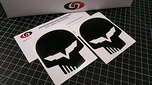 Corvette Jake Skull Decal Racing Flag Sticker LS1 LS6 LS2 LS3 LS7 LSX SELECT COLOR (Flat/Matte Blackout) (Corvette Racing Decal compare prices)