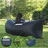 Joylink Outdoor Collection Nylon Fabric Inflatable Lounger (Black)