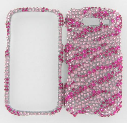 Samsung T769 Galaxy S Blaze 4G Full Diamond Hot Pink Zebra Protective Case