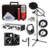 Home Recording Studio Bundle MXL 550/551R with Monitor Speakers USB Interface and More!