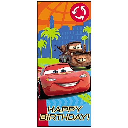 Unique Plastic Disney Cars Door Poster 60 x 27""