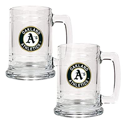 Great American MLB 15 oz. Logo Glass Tankard Set