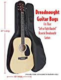 Performance Plus GB570 Deluxe Heavy Duty 600 Denier Nylon Dreadnought Guitar Bag