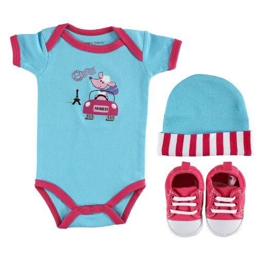 3-Piece Baby On The Go Gift Set, Pink