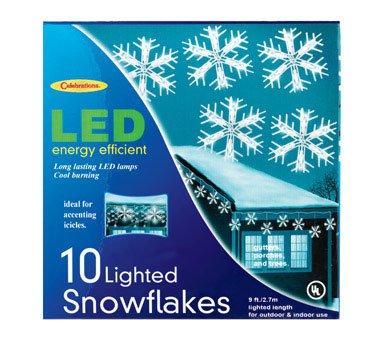 LED Snowflake Dangler Lights By Celbrations Lighting