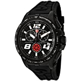 Swiss Legend Men's 80040-BB-01 Sprint Racer Collection Chronograph Black Rubber Watch