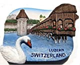 Lake Lucerne Luzern Switzerland Swiss Swan 3D Resin TOY Fridge Magnet Free Ship