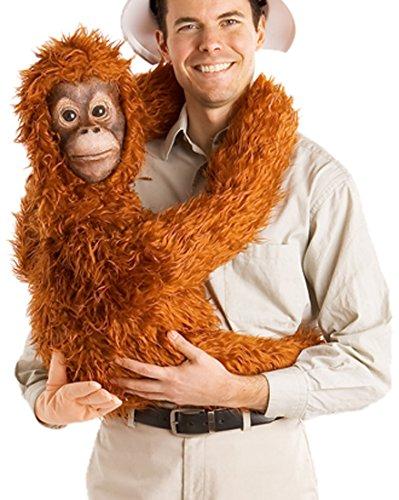 Househaunters Baby Orangutan Arm Puppet, Golden Orange, One Size front-492833