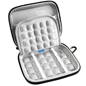 Lacdo Waterproof Hard EVA Shockproof Carrying Case Pouch Bag for Seagate Backup Plus Slim 2TB 1TB / Western Digital WD My Passport Ultra 1TB 2TB / Toshiba Stor.E Basics / Canvio / Samsung M3 Slimline P3 / 2.5 inch Portable External Hard Drive