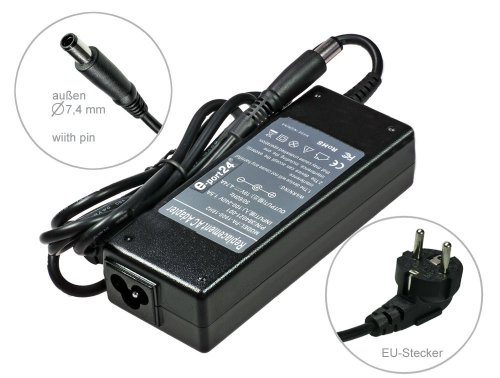 Notebook Netzteil AC Adapter Ladeger&#228;t f&#252;r HP Compaq Business nc2400 nc4400 nc6320 nc6400 nc8430 nw8440 nw9440 nx6110 nx6115 nx6120 nx6125 nx6130 nx6310 nx6315 nx6320 nx6325 nx7300 nx7400 nx8420 nx9000 nx9100 nx9420 nx9500 nx9600. Mit Euro Stromkabel von e-port24&#174;